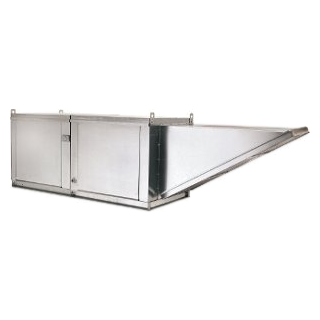 Picture of 8' Wall Canopy Hood, Fan, Direct Fired Heated Makeup Air Unit System