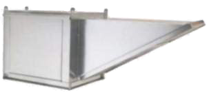 Picture of 9' Wall Canopy Hood, Fan, Supply Fan System