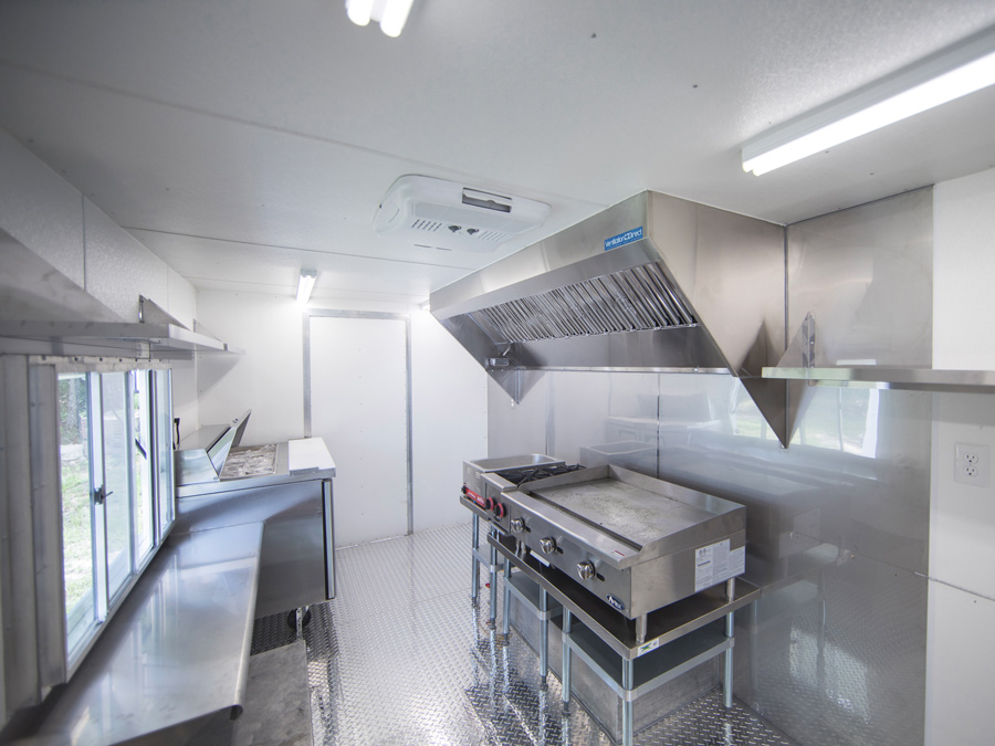 Picture of 10' Mobile Kitchen Hood System with Exhaust Fan