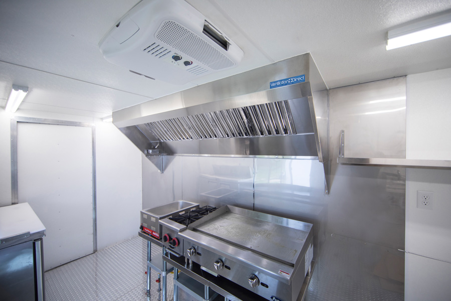 Picture of 8' Mobile Kitchen Hood System with Exhaust Fan