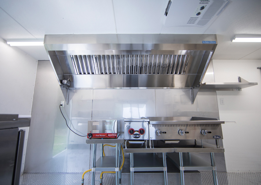 ... Picture Of 9u0027 Mobile Kitchen Hood System With Exhaust ...