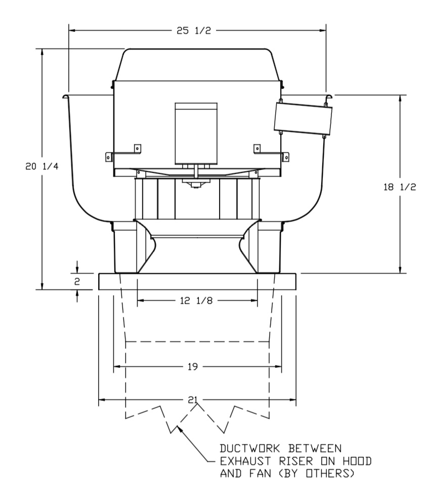 Picture of Direct Drive Upblast Exhaust Fan 900 CFM