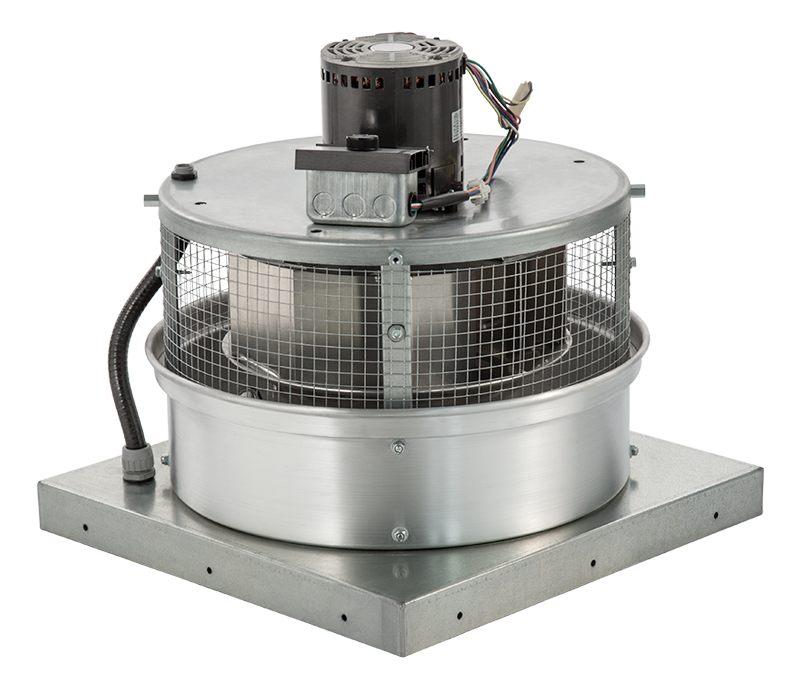 Direct Drive Centrifugal Exhaust Fans : Ventilation direct drive downblast exhaust fan