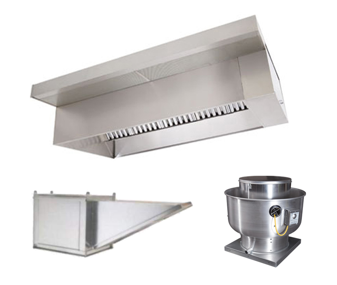 Picture of 4' Wall Canopy Hood, Fan, Supply Fan System
