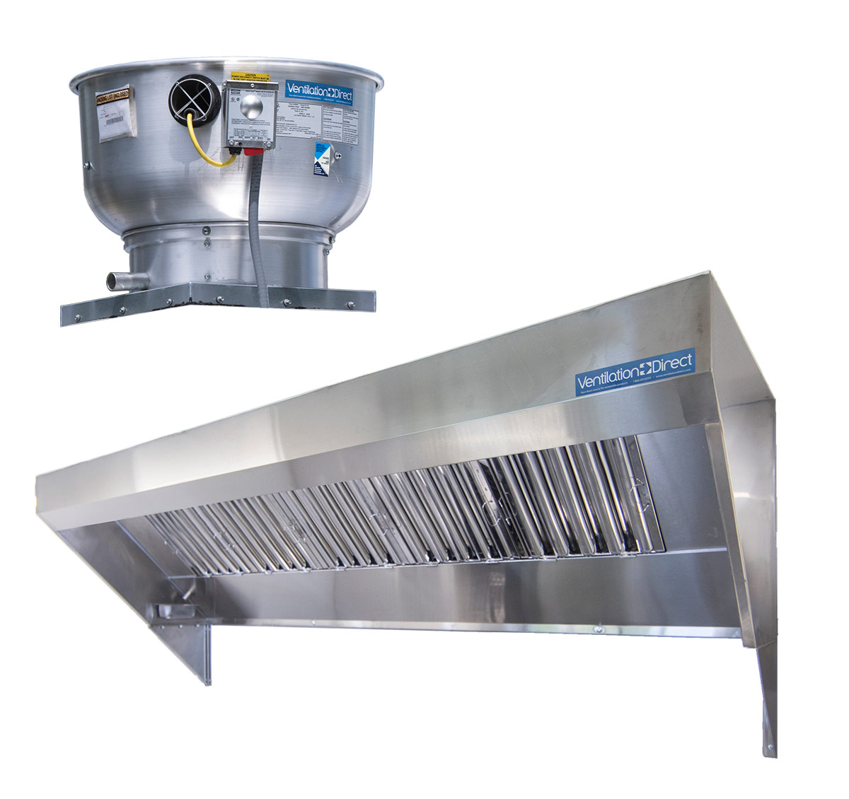 Picture of 9' Mobile Kitchen Hood System with Exhaust Fan