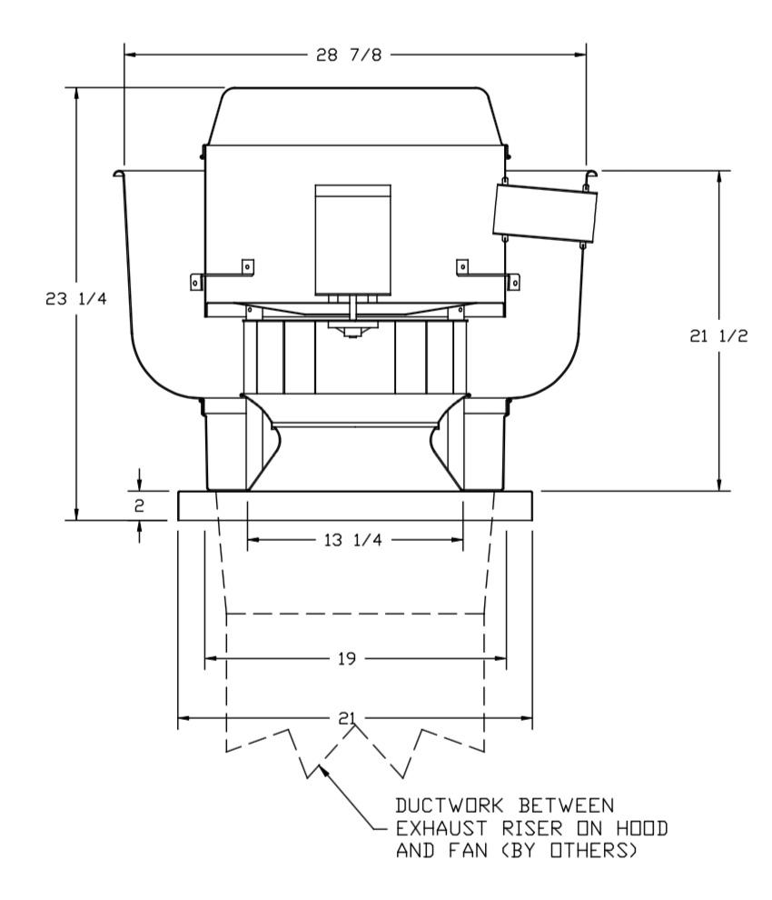 Picture of Premium Upblast Exhaust Fan 1500 CFM