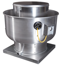 Picture of Centrifugal Upblast Exhaust Fan - 4000 CFM - 1 Phase Input